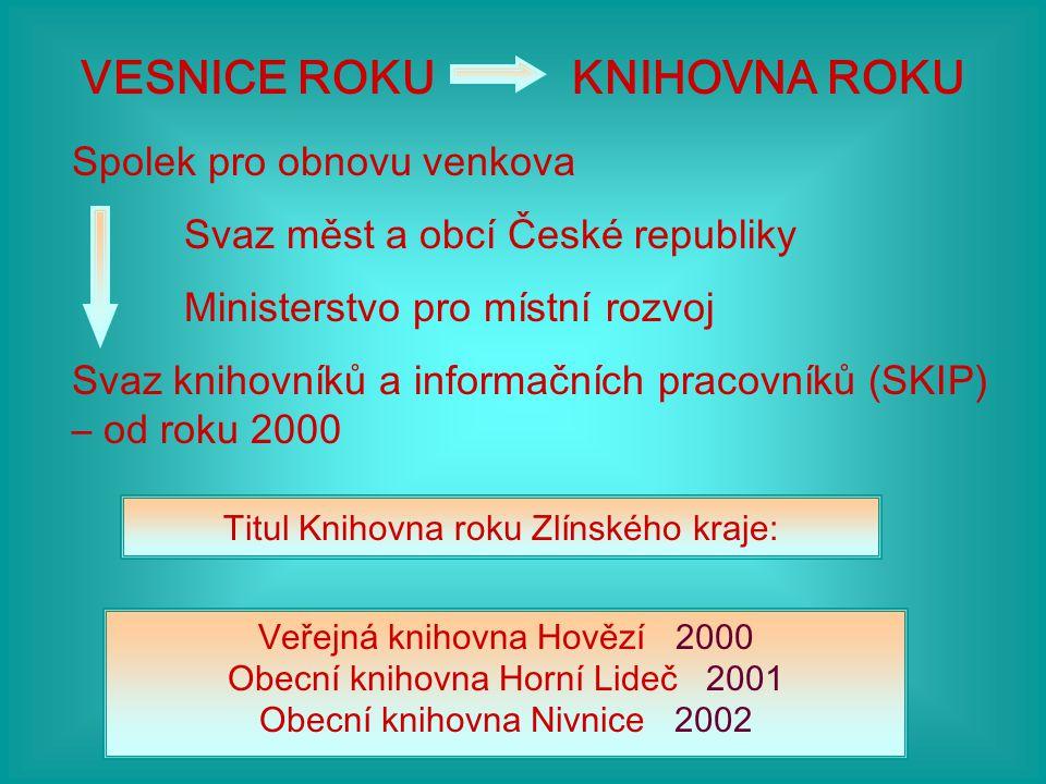 Cena Ministerstva kultury Knihovna roku Nařízení vlády č.