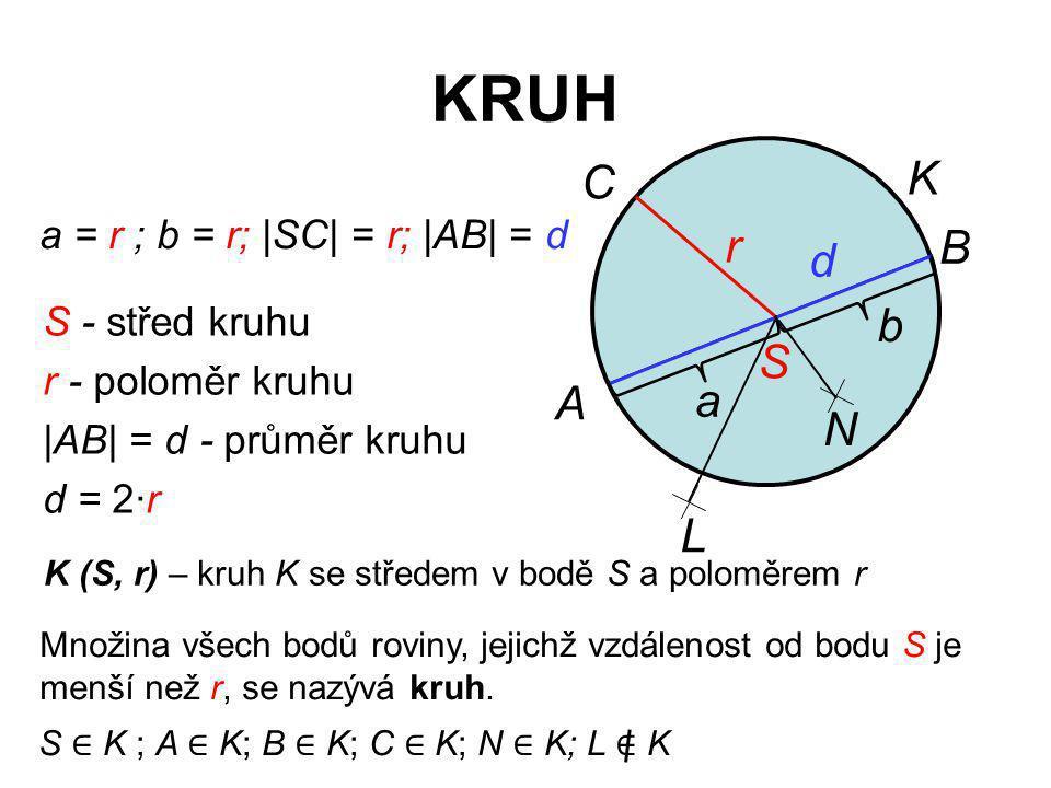 Cvičení 1.Sestrojte kružnici k (S; 2,7 cm).