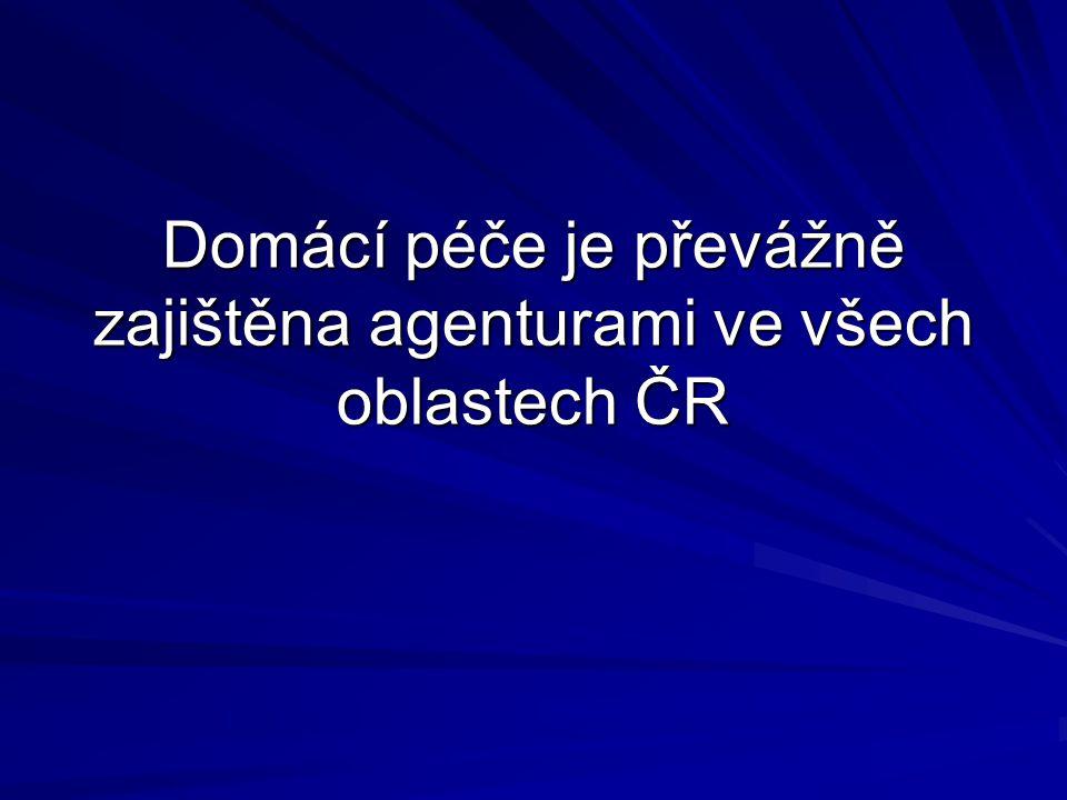 Domácí péče je převážně zajištěna agenturami ve všech oblastech ČR