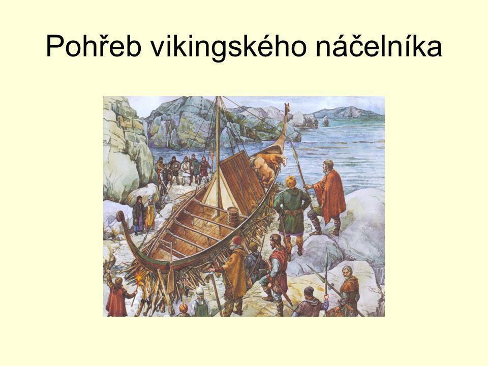 Bydlení vikingů Ke stavbě vikingských obydlí se využívaly materiály dostupné v daném místě.