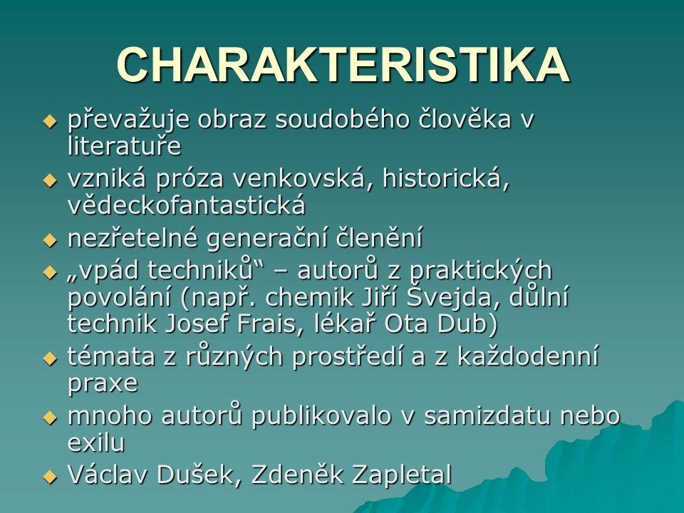 PAVEL TIGRID (1917 – 2003) – novinář, esejista, redaktor JIŘÍ GRUŠA (1938) – básník, prozaik, literární kritik JAN KŘESADLO (1926 – 1995) – prozaik VĚRA LINHARTOVÁ (1938) – autorka experimentálních próz JAN PELC (1957) – prozaik PETR PLACÁK (1964) – prozaik a básník Arthur G.