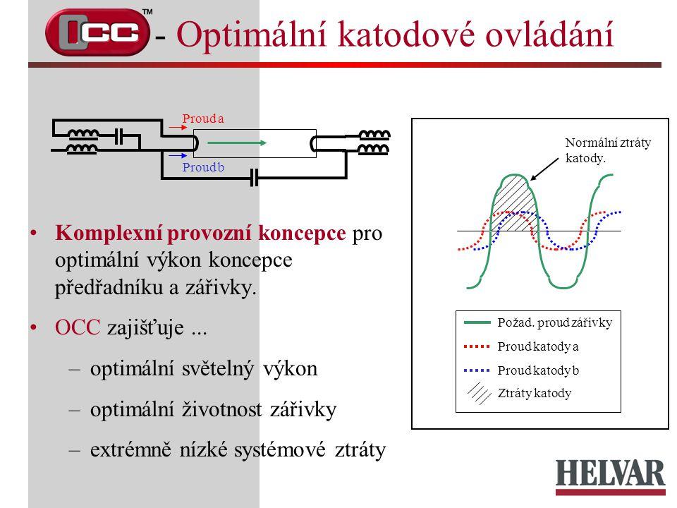 Komplexní provozní koncepce pro optimální výkon koncepce předřadníku a zářivky. OCC zajišťuje... –optimální světelný výkon –optimální životnost zářivk