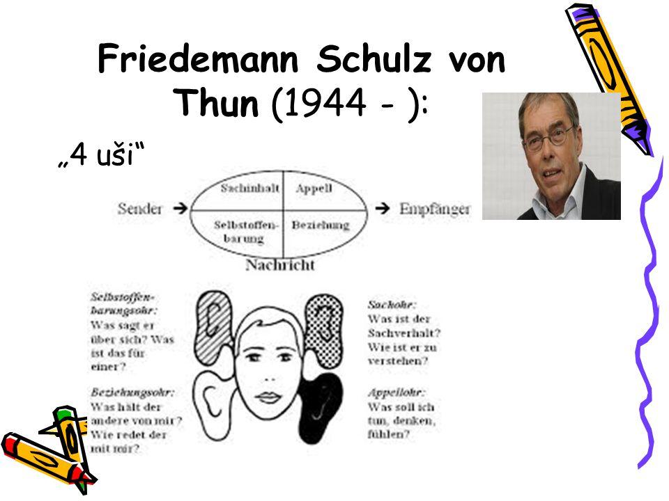 """Friedemann Schulz von Thun (1944 - ): """"4 uši"""""""