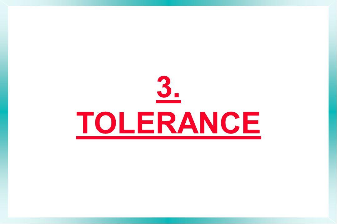 3. TOLERANCE