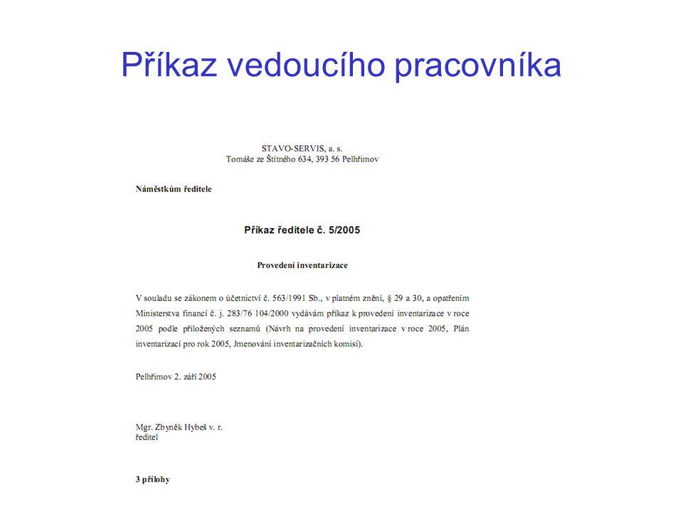 Oběžník Nová organizační opatření, nastalé změny, připravované akce apod.