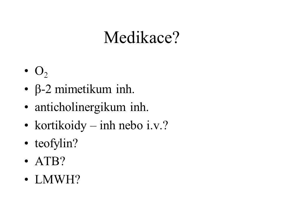 Medikace. O 2 β-2 mimetikum inh. anticholinergikum inh.
