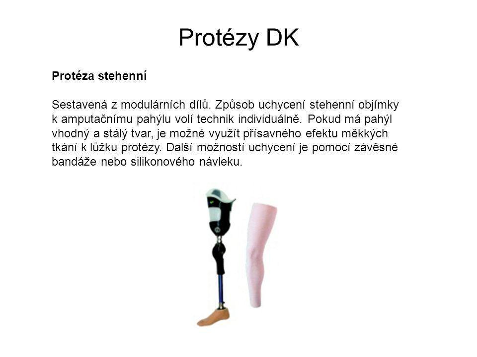 Protézy DK Protéza stehenní Sestavená z modulárních dílů.