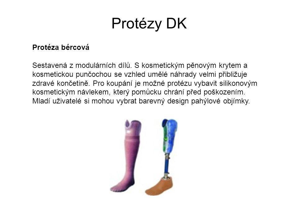 Protézy DK Protéza bércová Sestavená z modulárních dílů.