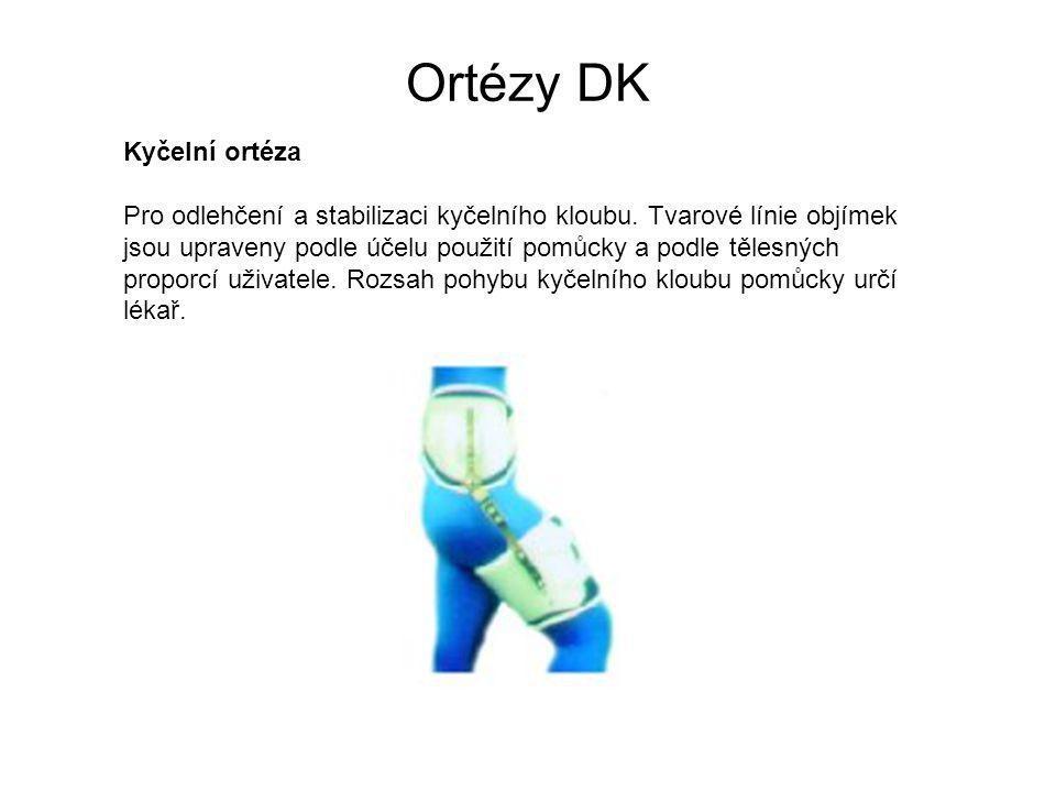 Ortézy DK Kyčelní ortéza Pro odlehčení a stabilizaci kyčelního kloubu.