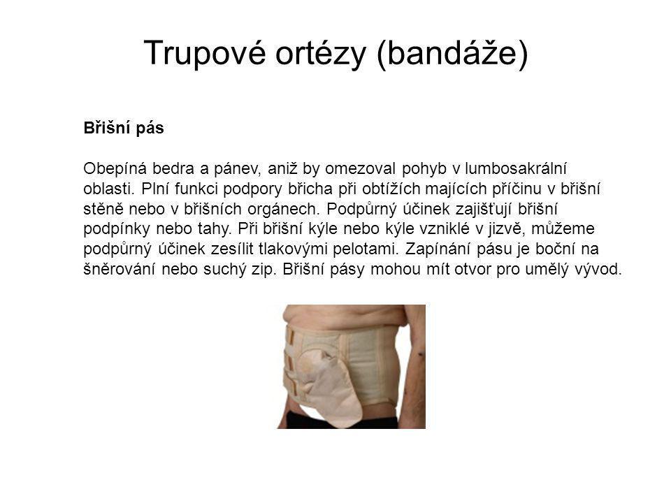 Trupové ortézy (bandáže) Břišní pás Obepíná bedra a pánev, aniž by omezoval pohyb v lumbosakrální oblasti.