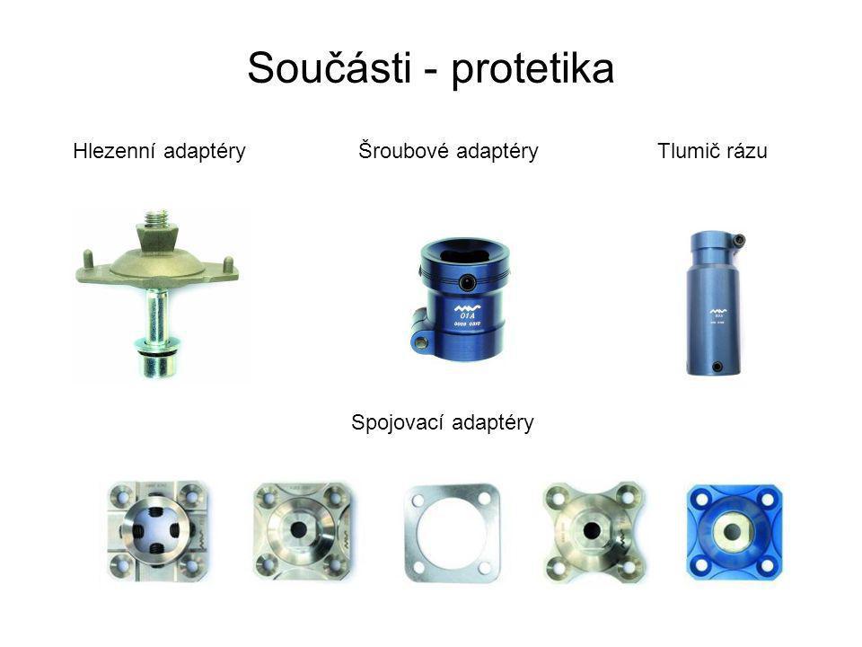 Součásti - protetika Hlezenní adaptéryŠroubové adaptéryTlumič rázu Spojovací adaptéry