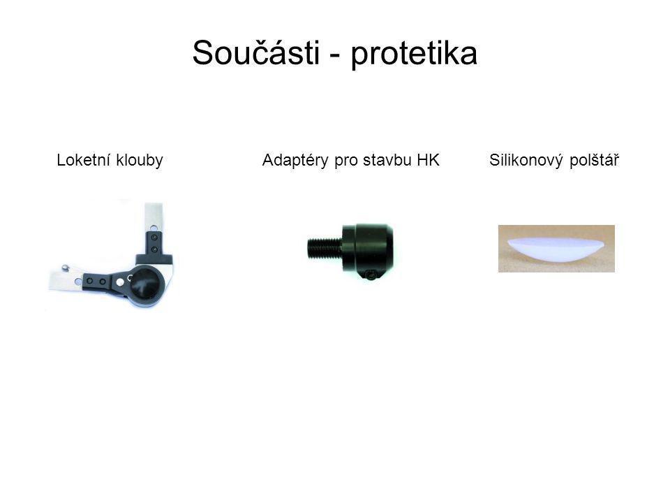 Součásti - protetika Loketní kloubyAdaptéry pro stavbu HKSilikonový polštář