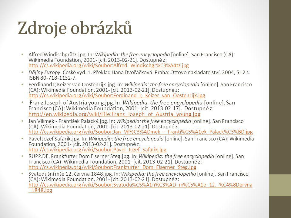 Zdroje obrázků Alfred Windischgrätz.jpg. In: Wikipedia: the free encyclopedia [online].