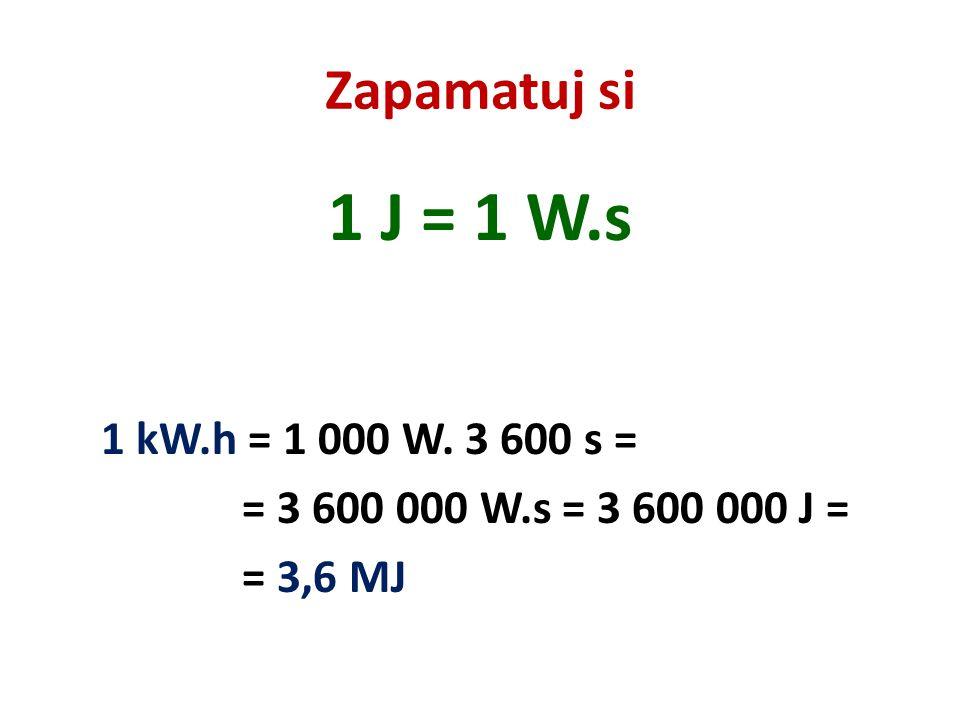 V praxi rozlišujeme VÝKON daného zařízení…..užitečná práce vykonaná za 1 sekundu…..označení P….(W) PŘÍKON….práce, která se skutečně za 1 sekundu vykonala…..označení P 0 …..(W) Výkon P je vždy menší než příkon P 0 ….rozdíl P 0 – P ……ZTRÁTY