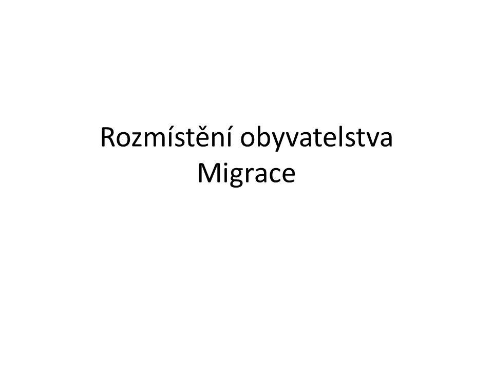 Rozmístění obyvatelstva Migrace