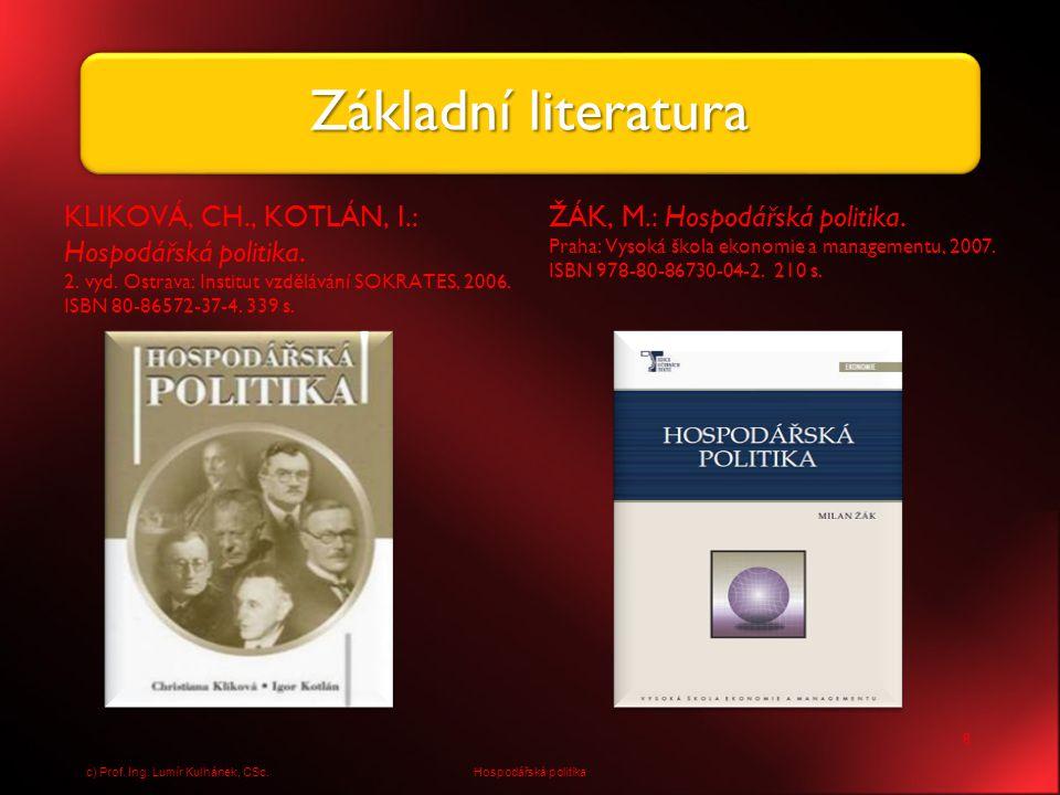 BALDWIN, R., WYPLOSZ, Ch.: Ekonomie evropské integrace.