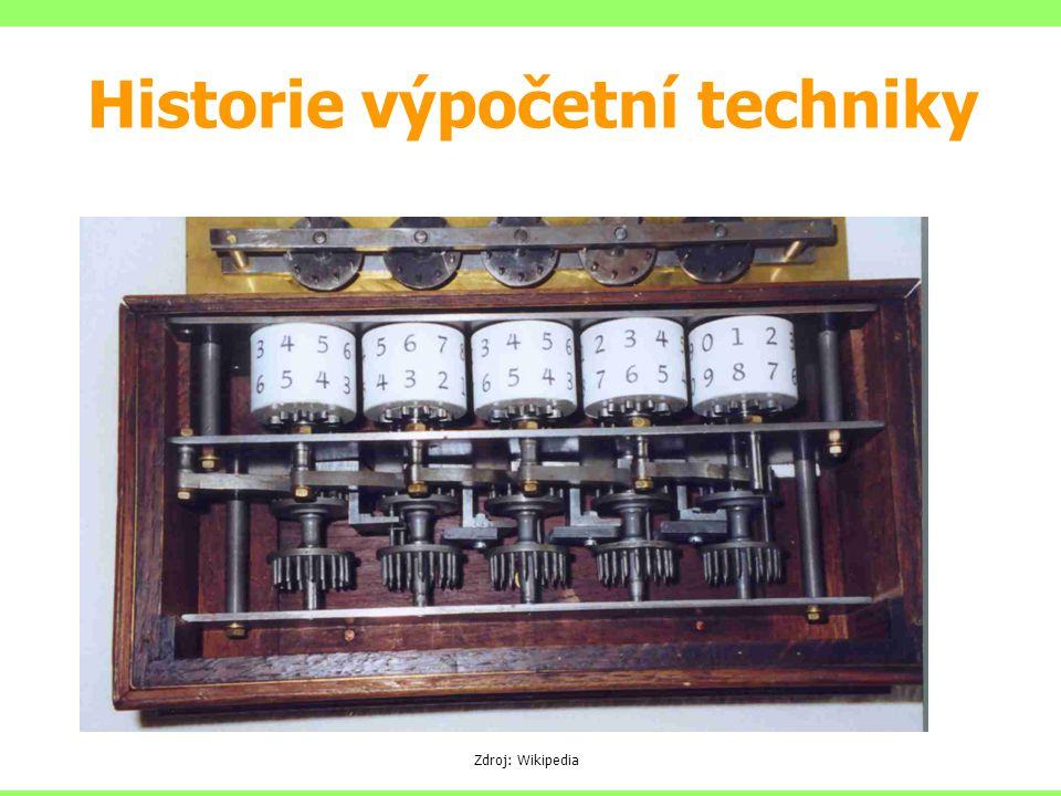 Zdroj: Wikipedia Historie výpočetní techniky