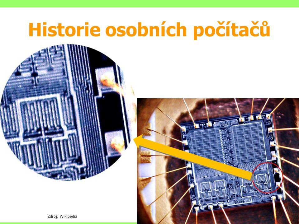 Zdroj: Wikipedia Historie osobních počítačů