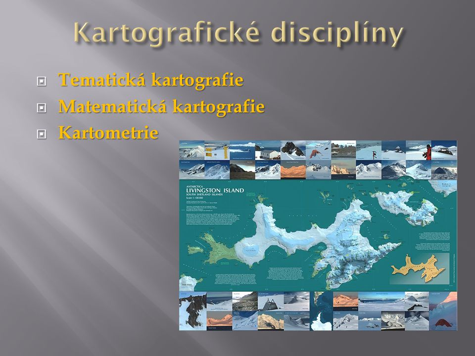  Tematická kartografie  Matematická kartografie  Kartometrie