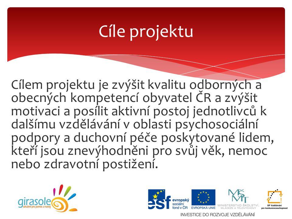 Cílem projektu je zvýšit kvalitu odborných a obecných kompetencí obyvatel ČR a zvýšit motivaci a posílit aktivní postoj jednotlivců k dalšímu vzdělává