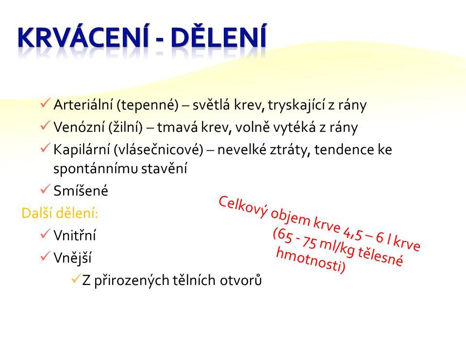 Číslo šablony: III/2 VY_32_INOVACE_P9_3.5 Tematická oblast: První pomoc, péče o zdraví člověka Ošetření krvácení DUM – výkladový Předmět: TV Ročník: 4.