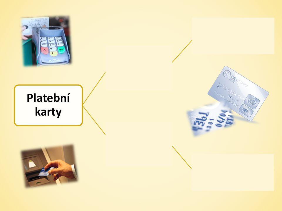 Platební karty kreditní čerpání úvěru debetní vlastní peníze