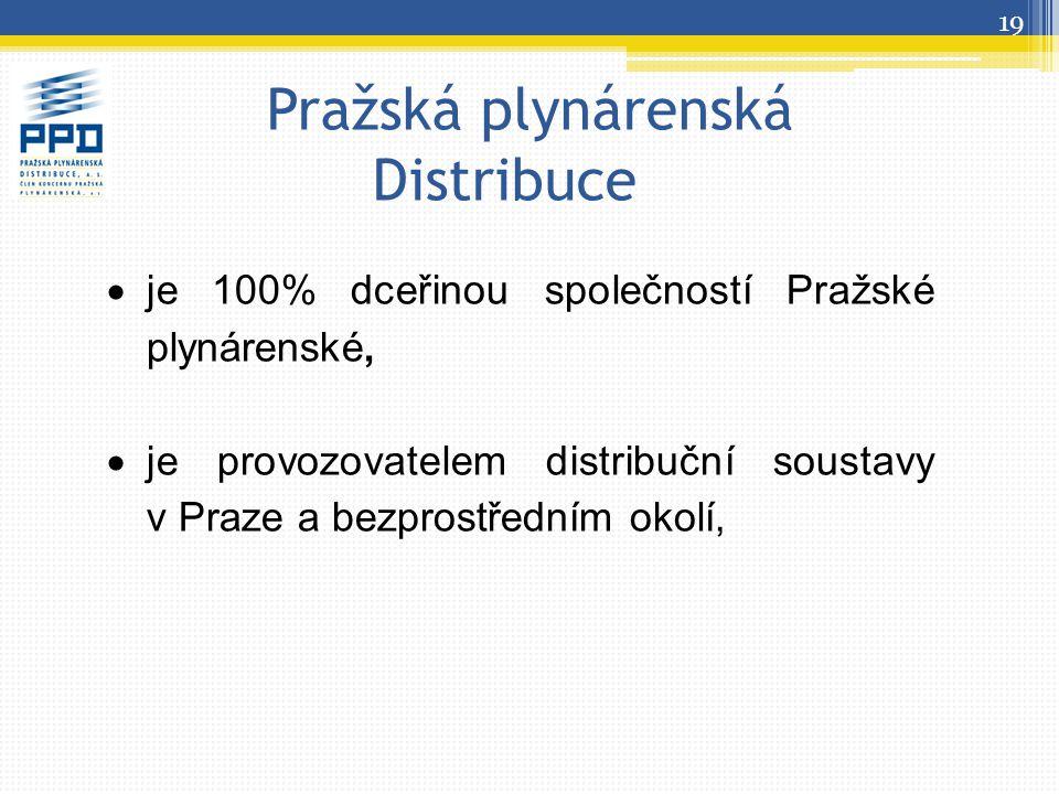Pražská plynárenská Distribuce  je 100% dceřinou společností Pražské plynárenské,  je provozovatelem distribuční soustavy v Praze a bezprostředním o