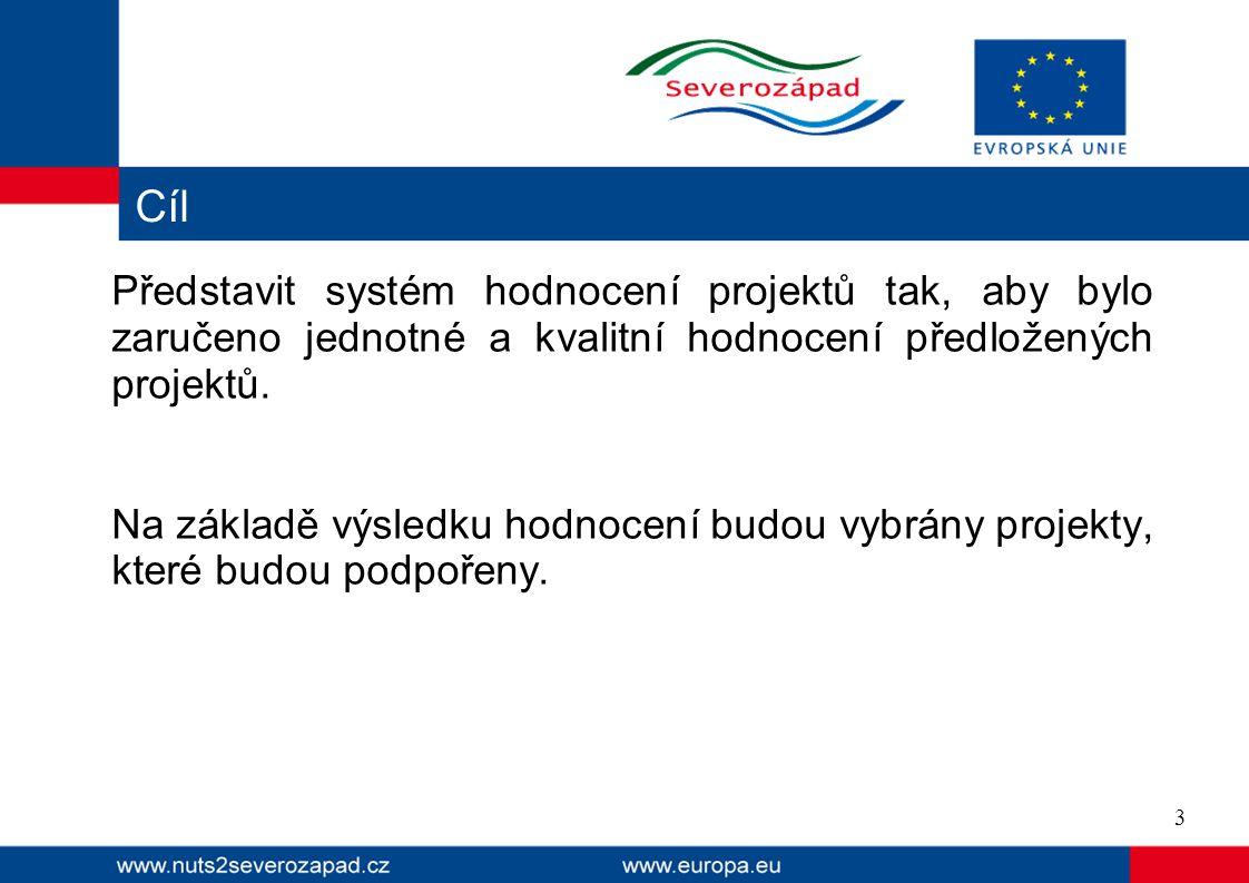  Smyslem hodnocení je vybrat kvalitní projekty splňující podmínky Regionálního operačního programu NUTS II Severozápad, které jsou smysluplné, skutečně realizovatelné, přinesou novou přidanou hodnotu a pomohou k úspěšnému naplnění cílů programu, přičemž budou zároveň udržitelné.