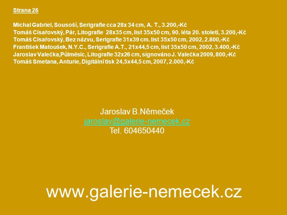 www.galerie-nemecek.cz Strana 26 Michal Gabriel, Sousoší, Serigrafie cca 28x 34 cm, A.