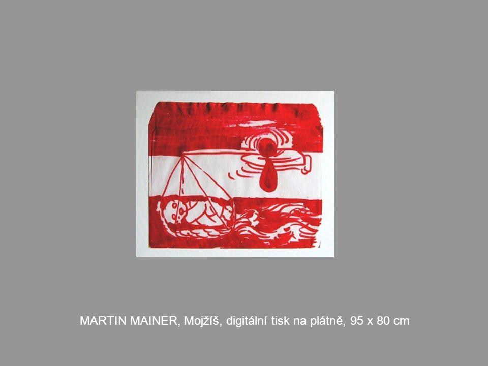 MARTIN MAINER, Mojžíš, digitální tisk na plátně, 95 x 80 cm