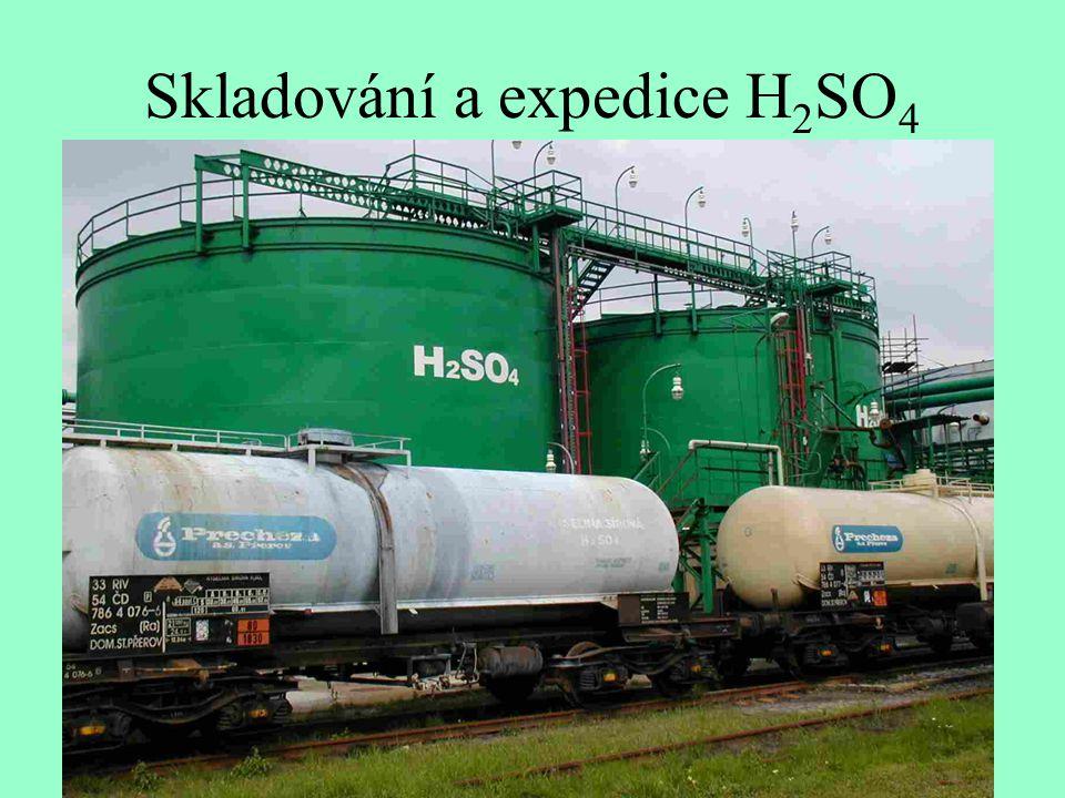 Skladování a expedice H 2 SO 4