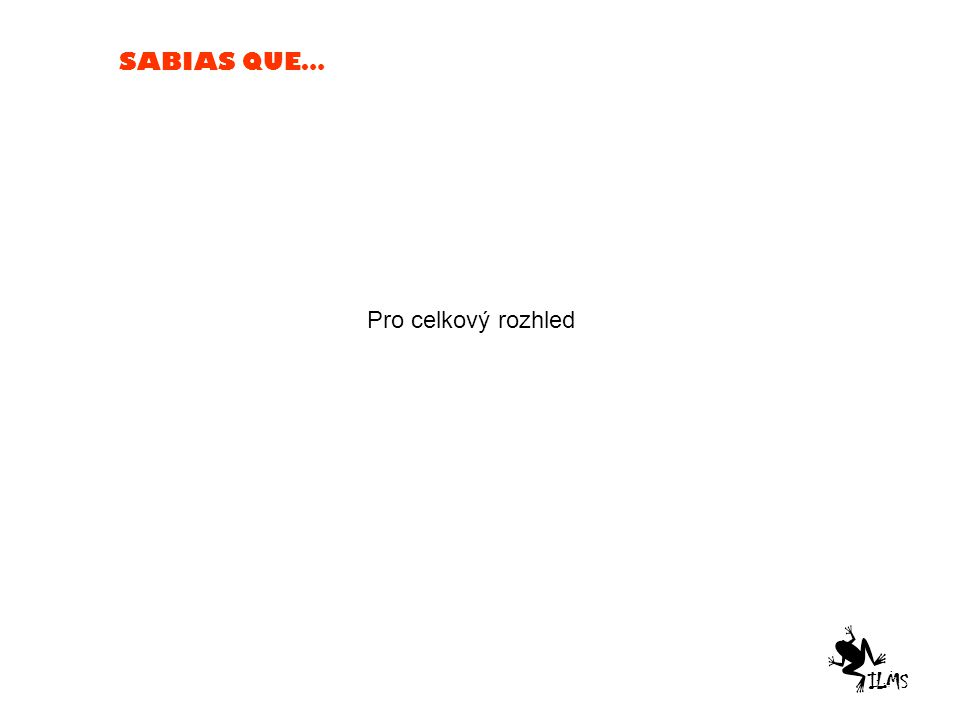 SABIAS QUE… Pro celkový rozhled ILMS