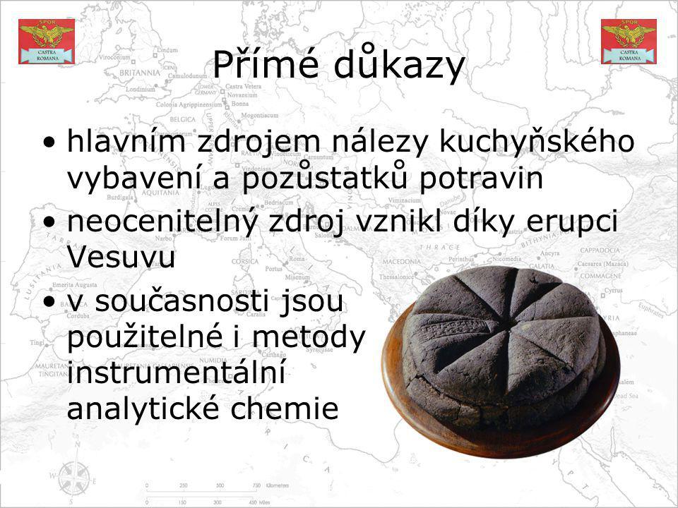 Suroviny od počátků říše do kolapsu byly základem cereálie, ale ne tak, jak to vypadá podle Caesarových Zápisků nejčastějším masem bylo vepřové, následovala drůbež, zvěřina a ryby běžná byla zelenina (cibule, česnek, kapusta...), ovoce (jablka, fíky, víno...) i luštěniny (čočka, fazole...)