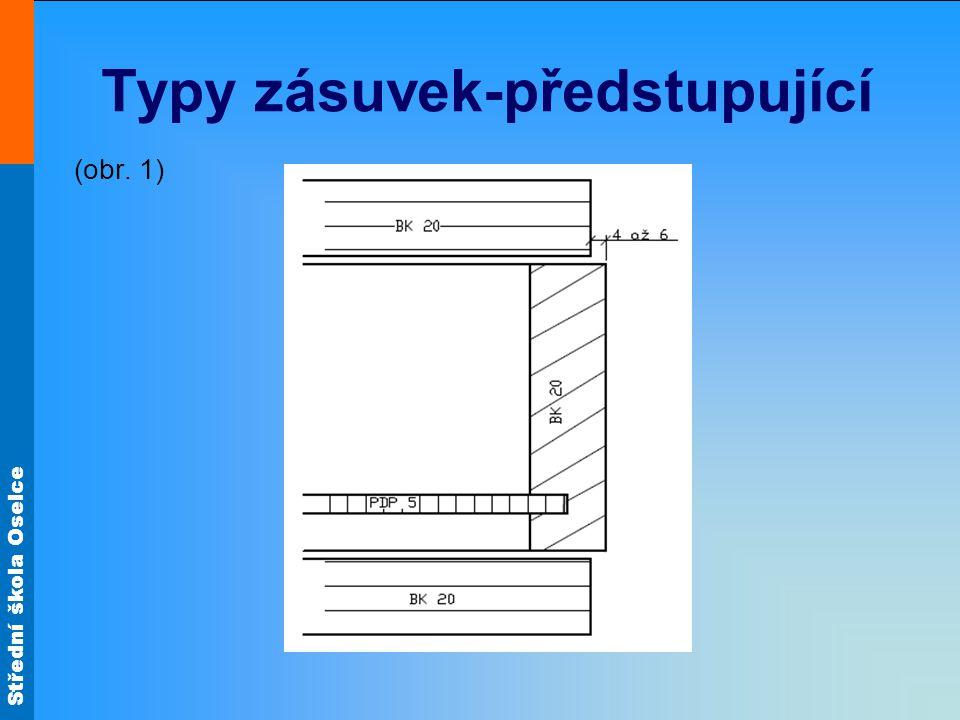 Střední škola Oselce Typy zásuvek-předstupující (obr. 1)