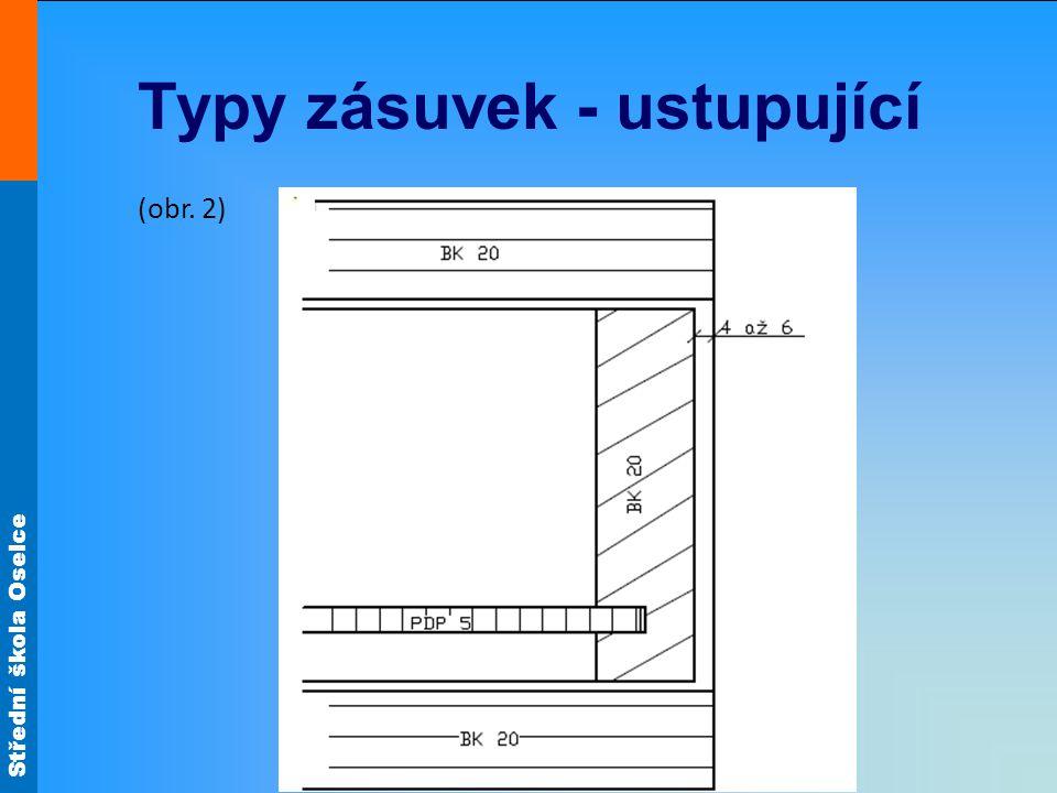 Střední škola Oselce Typy zásuvek - ustupující (obr. 2)
