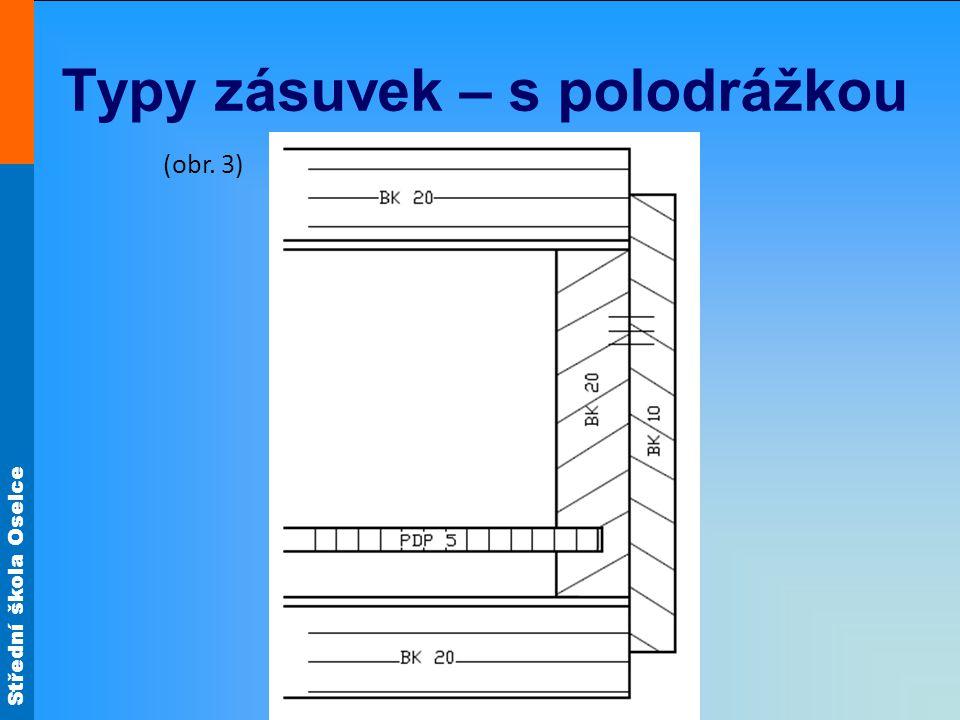 Střední škola Oselce Typy zásuvek – s polodrážkou (obr. 3)