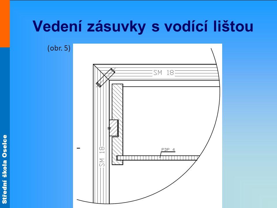 Střední škola Oselce Vedení zásuvky s vodící lištou (obr. 5)