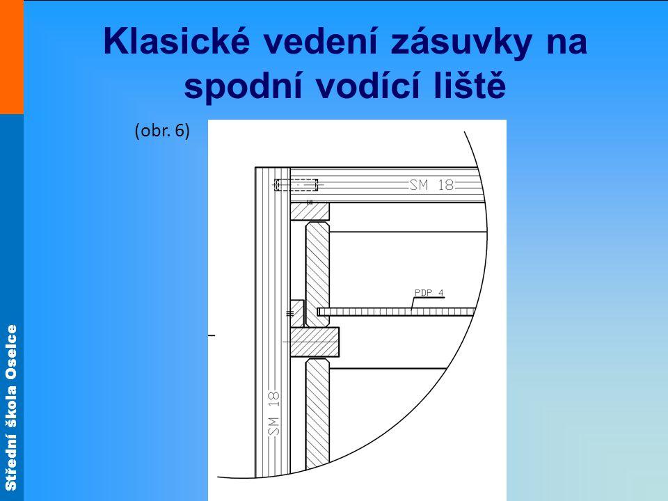 Střední škola Oselce Klasické vedení zásuvky na spodní vodící liště (obr. 6)