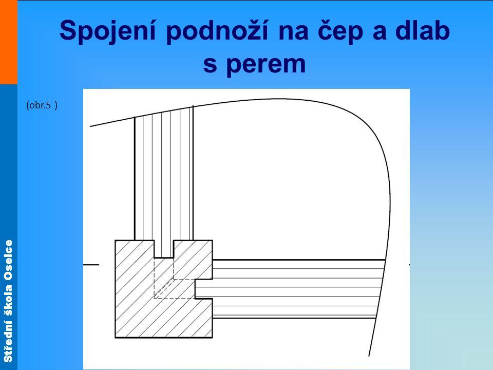 Střední škola Oselce Spojení podnoží na čep a dlab s perem (obr.5 )