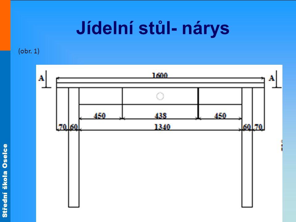 Střední škola Oselce Jídelní stůl- bokorys (obr. 2)
