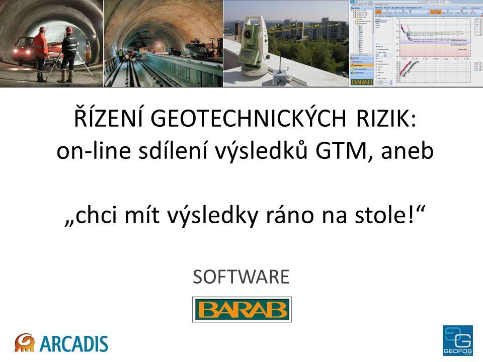 """ŘÍZENÍ GEOTECHNICKÝCH RIZIK: on-line sdílení výsledků GTM, aneb """"chci mít výsledky ráno na stole!"""" SOFTWARE"""