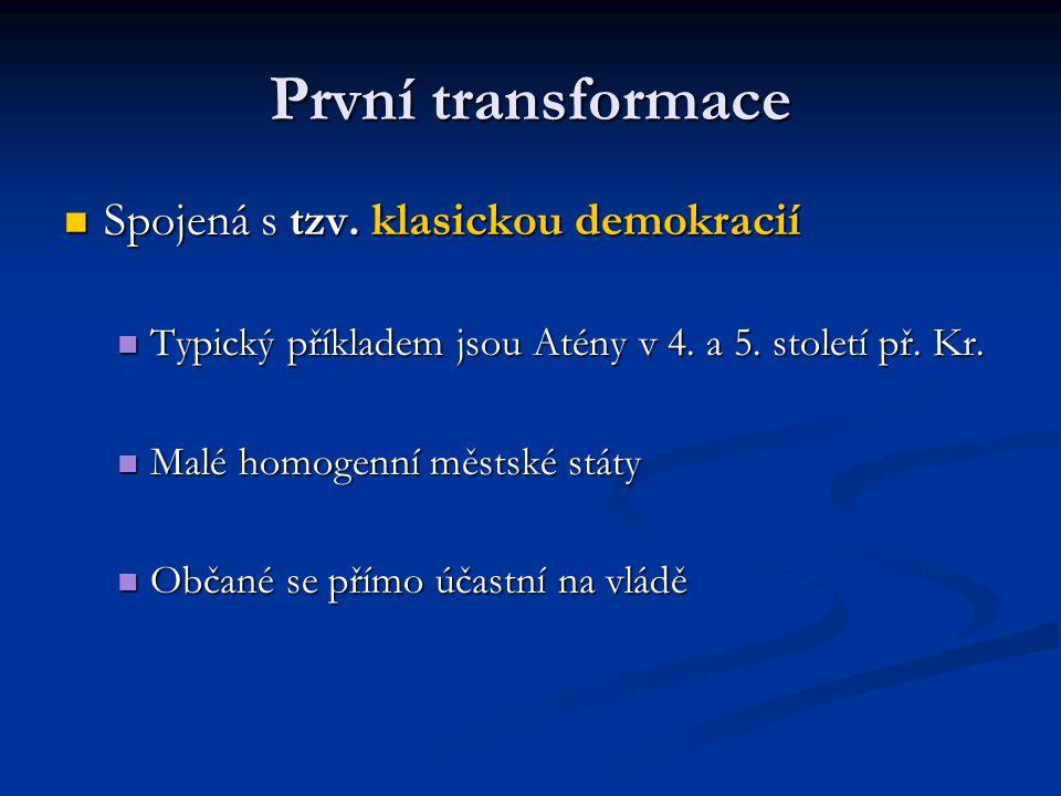 Druhá transformace 18.a 19. století 18. a 19.