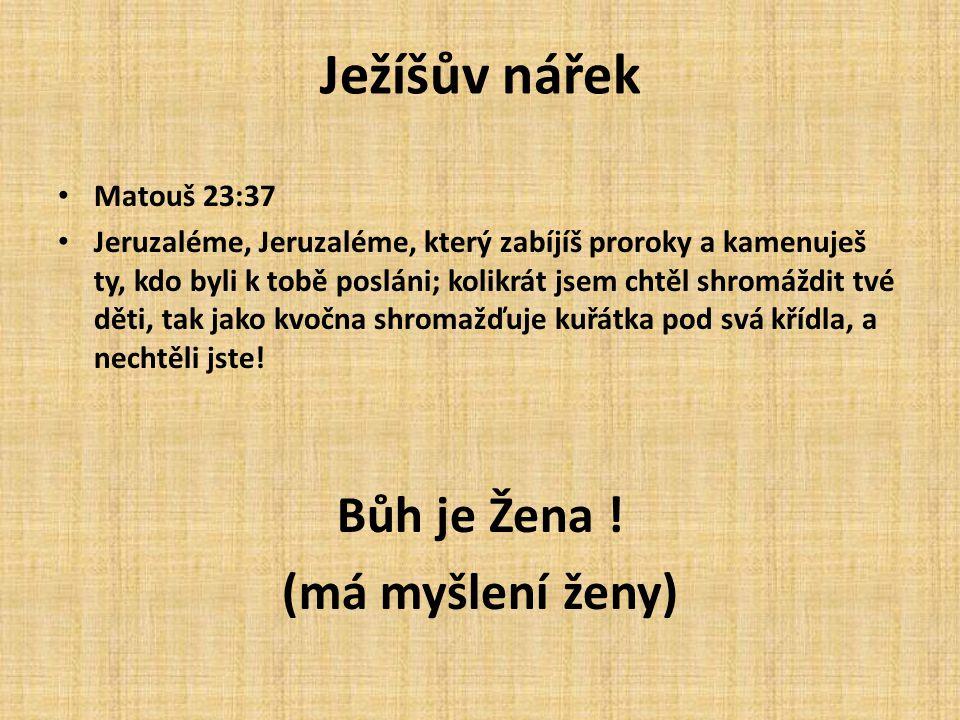 Ježíšův nářek Matouš 23:37 Jeruzaléme, Jeruzaléme, který zabíjíš proroky a kamenuješ ty, kdo byli k tobě posláni; kolikrát jsem chtěl shromáždit tvé d