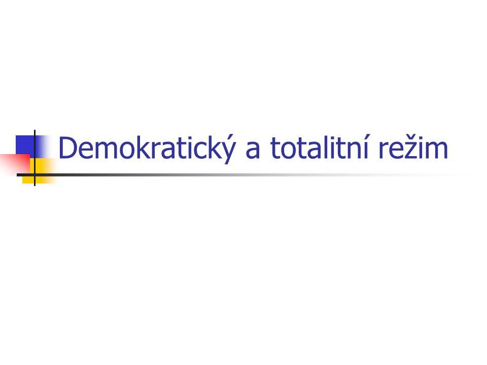 Demokratický a totalitní režim