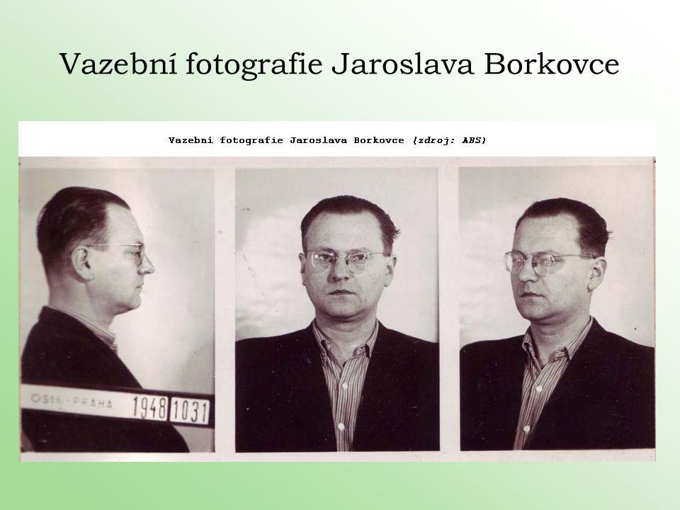 Vazební fotografie Jaroslava Borkovce