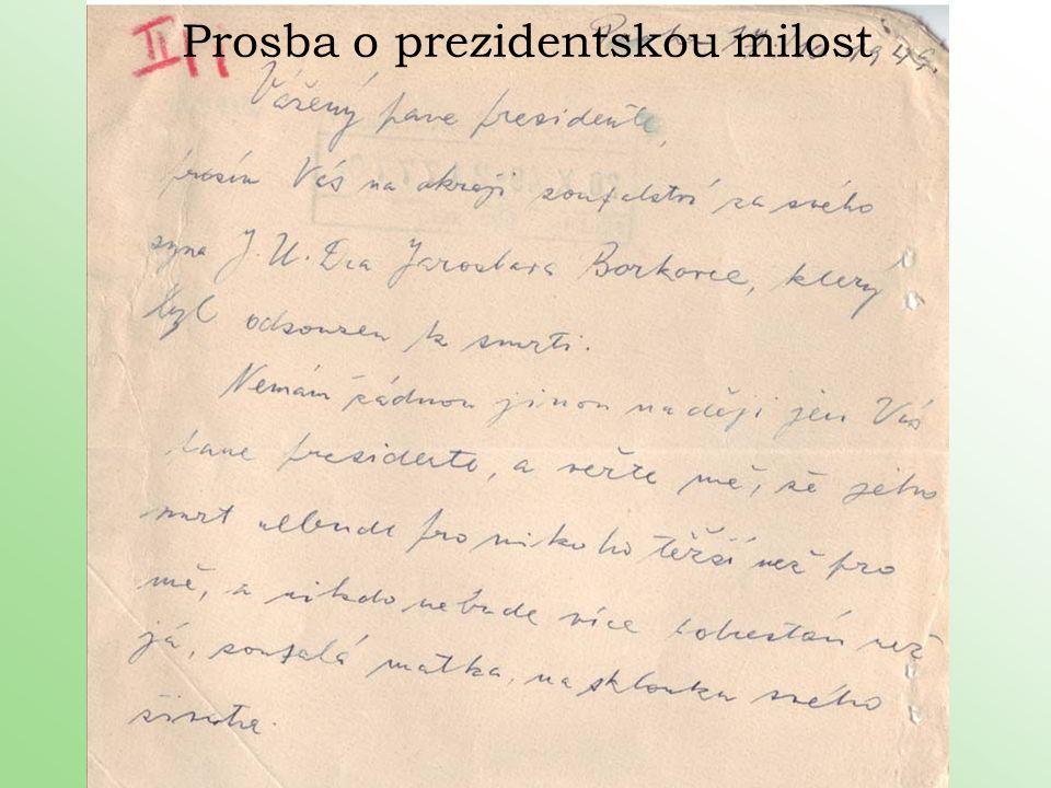 Prosba o prezidentskou milost