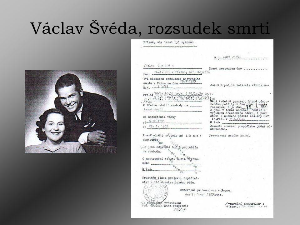 Václav Švéda, rozsudek smrti