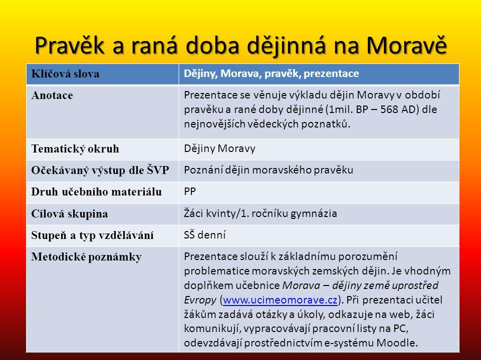 Co je to Morava.