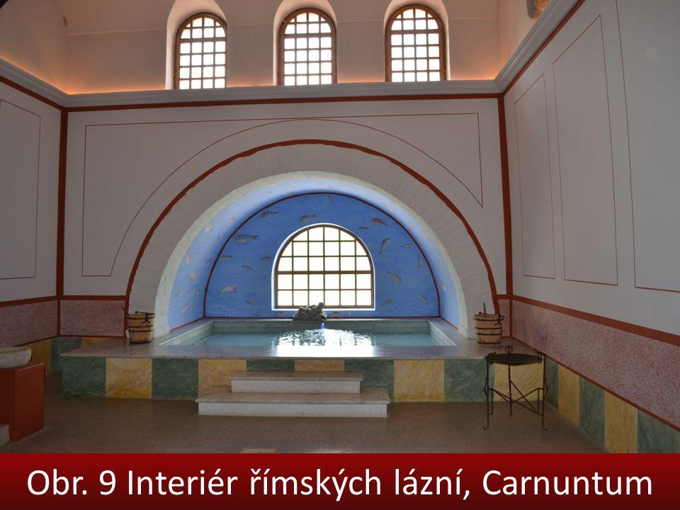 Obr. 9 Interiér římských lázní, Carnuntum