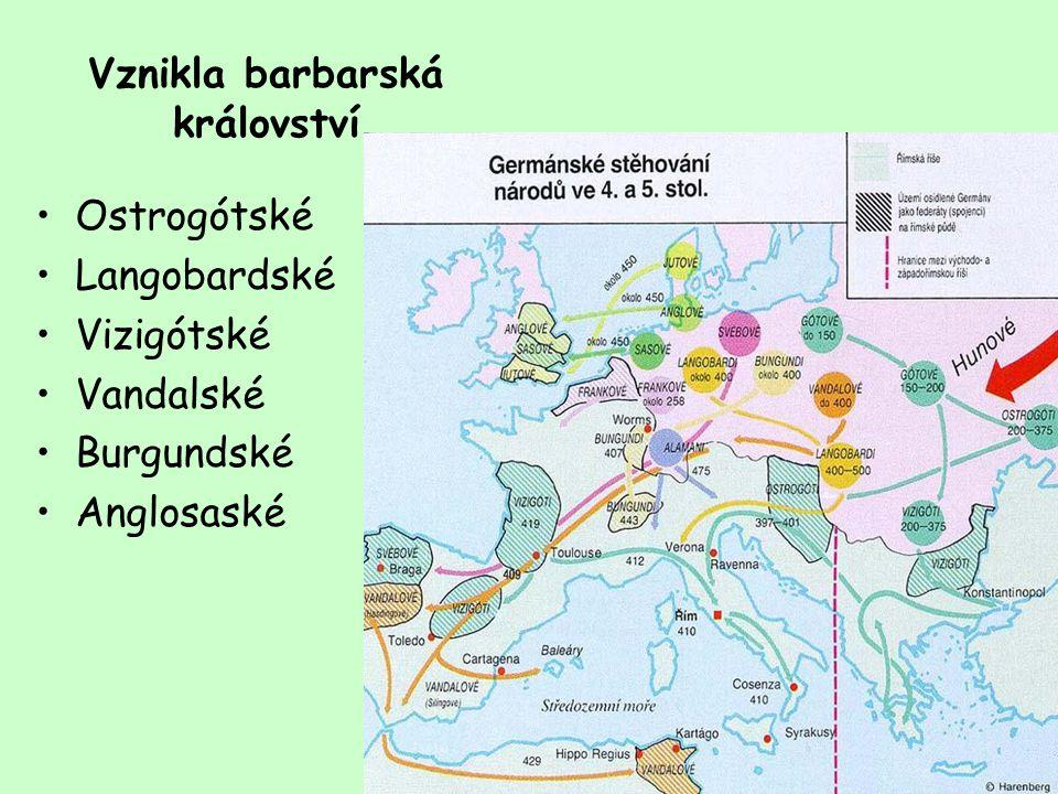 Bezprostřední příčinou pro počátek procesu stěhování národů se stal přesun středoasijského kmene Hunů, kteří se kolem roku 375 přemístili do oblasti severního Černomoří a do roku 395 vyplenili Balkán.